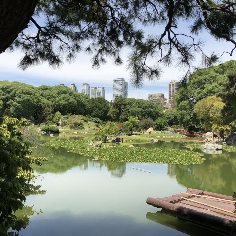 EW: view of central Buenos Aires from Japanese Garden