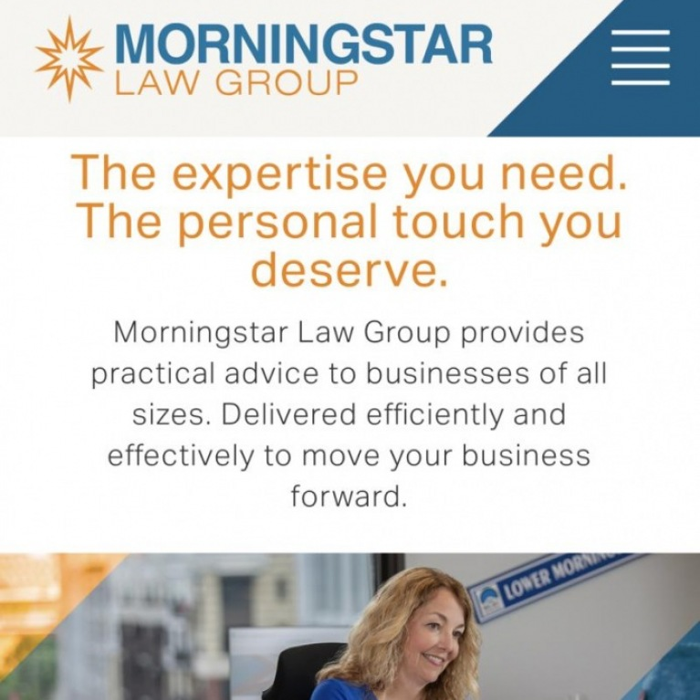 Morningstar Law Group new website