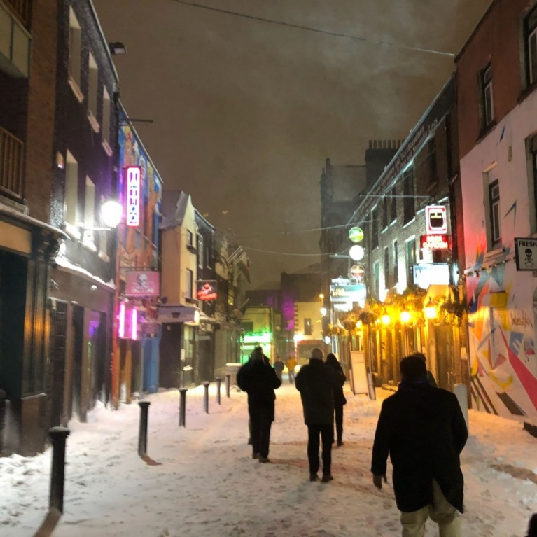 Temple Bar in the snow